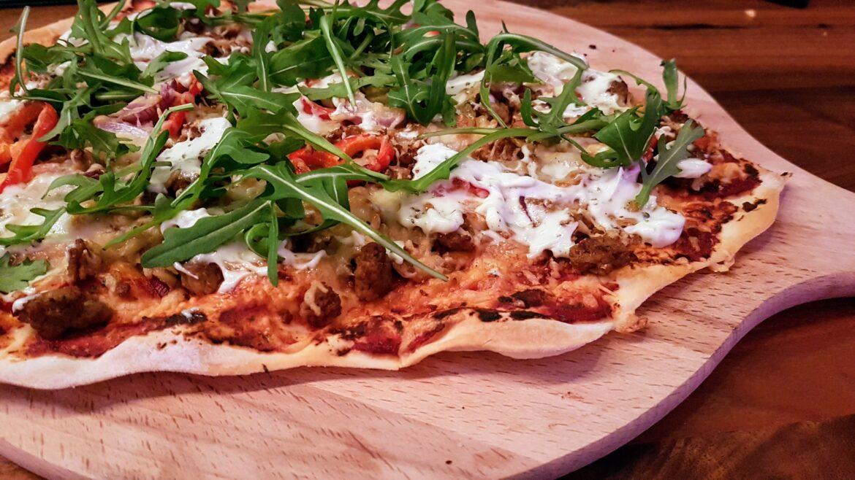 Flammkuchen-Pizza Taco